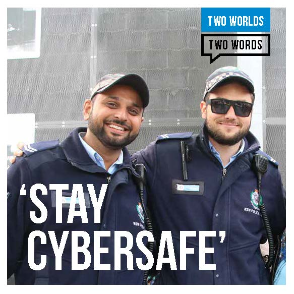 2 Worlds 2 Words Brochure - Stay Cybersafe - English